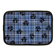 Blue  Plaid Anarchy Netbook Case (medium)