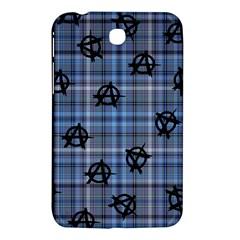 Blue  Plaid Anarchy Samsung Galaxy Tab 3 (7 ) P3200 Hardshell Case