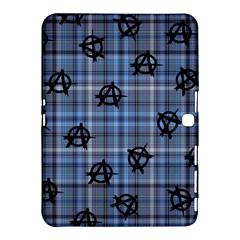 Blue  Plaid Anarchy Samsung Galaxy Tab 4 (10 1 ) Hardshell Case