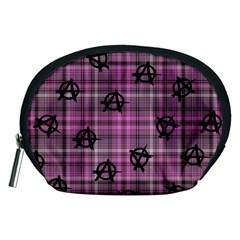 Pink  Plaid Anarchy Accessory Pouch (medium)