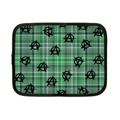 Green  Plaid Anarchy Netbook Case (small)