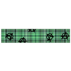 Green  Plaid Anarchy Small Flano Scarf
