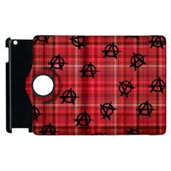 Red Plaid Anarchy Apple Ipad 3/4 Flip 360 Case