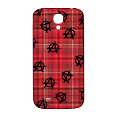 Red Plaid Anarchy Samsung Galaxy S4 I9500/i9505  Hardshell Back Case