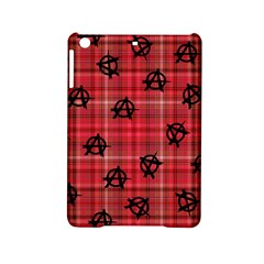 Red Plaid Anarchy Ipad Mini 2 Hardshell Cases by snowwhitegirl