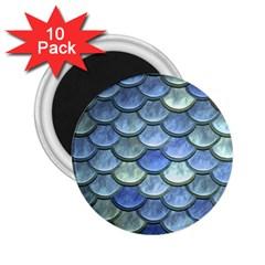 Blue Mermaid Scale 2 25  Magnets (10 Pack)  by snowwhitegirl