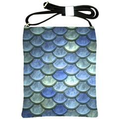 Blue Mermaid Scale Shoulder Sling Bag