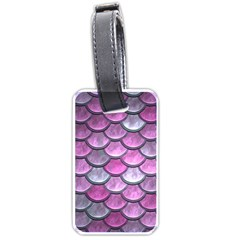 Pink Mermaid Scale Luggage Tags (one Side)
