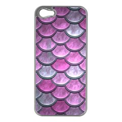 Pink Mermaid Scale Apple Iphone 5 Case (silver)