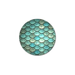 Aqua Mermaid Scale Golf Ball Marker (4 Pack)
