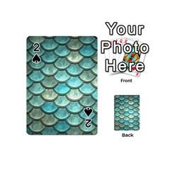 Aqua Mermaid Scale Playing Cards 54 (mini)