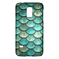 Aqua Mermaid Scale Samsung Galaxy S5 Mini Hardshell Case