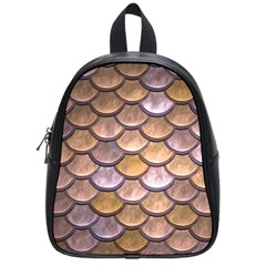 Copper Mermaid Scale School Bag (small)
