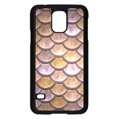 Copper Mermaid Scale Samsung Galaxy S5 Case (black)