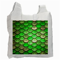 Green Mermaid Scale Recycle Bag (one Side) by snowwhitegirl