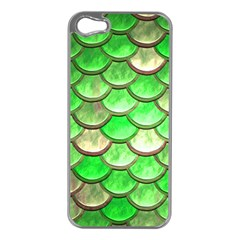 Green Mermaid Scale Apple Iphone 5 Case (silver)