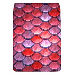 Red Mermaid Scale Removable Flap Cover (l)