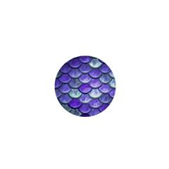 Blue Purple Mermaid Scale 1  Mini Magnets by snowwhitegirl