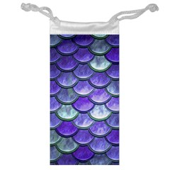 Blue Purple Mermaid Scale Jewelry Bag