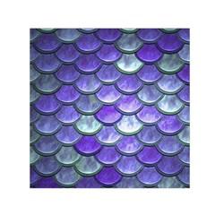 Blue Purple Mermaid Scale Small Satin Scarf (square)