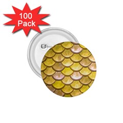 Yellow  Mermaid Scale 1 75  Buttons (100 Pack)