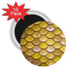 Yellow  Mermaid Scale 2 25  Magnets (10 Pack)