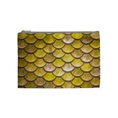 Yellow  Mermaid Scale Cosmetic Bag (medium)