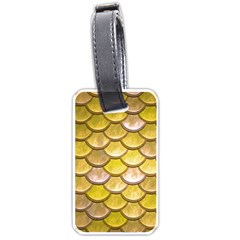 Yellow  Mermaid Scale Luggage Tags (one Side)