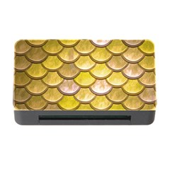 Yellow  Mermaid Scale Memory Card Reader With Cf