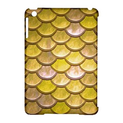 Yellow  Mermaid Scale Apple Ipad Mini Hardshell Case (compatible With Smart Cover)