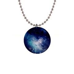 Nebula Blue Button Necklaces