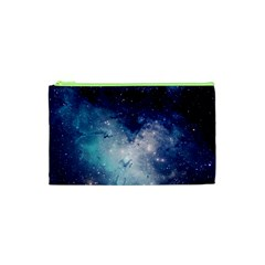 Nebula Blue Cosmetic Bag (xs) by snowwhitegirl
