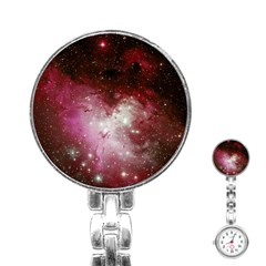 Nebula Red Stainless Steel Nurses Watch