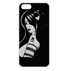 Girl  720 Apple Iphone 5 Seamless Case (white)