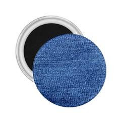 Blue Denim 2 25  Magnets