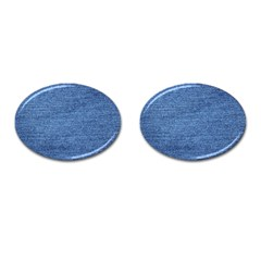 Blue Denim Cufflinks (oval)