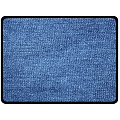 Blue Denim Double Sided Fleece Blanket (large)  by snowwhitegirl