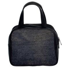 Black Denim Classic Handbag (two Sides)