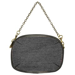 Black Denim Chain Purse (two Sides)