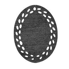 Black Denim Oval Filigree Ornament (two Sides)