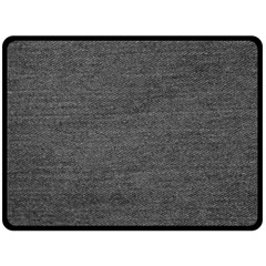 Black Denim Double Sided Fleece Blanket (large)  by snowwhitegirl