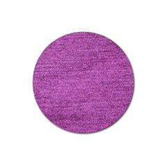 Purple Denim Magnet 3  (round)