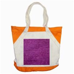 Purple Denim Accent Tote Bag
