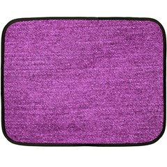 Purple Denim Double Sided Fleece Blanket (mini)