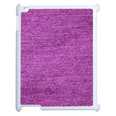 Purple Denim Apple Ipad 2 Case (white)