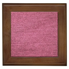 Pink  Denim Framed Tiles