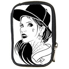 Woman Wth Hat 720 Compact Camera Leather Case