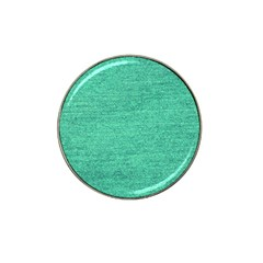 Green Denim Hat Clip Ball Marker
