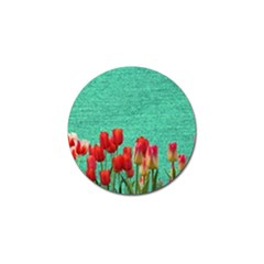Green Denim Flowers Golf Ball Marker (10 Pack) by snowwhitegirl
