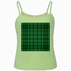Teal Plaid Green Spaghetti Tank
